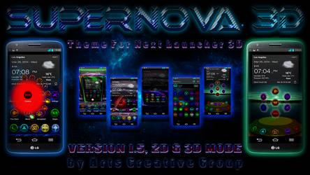 Next Launcher Theme Supernova 2D and 3D MODE by ArtsCreativeGroup