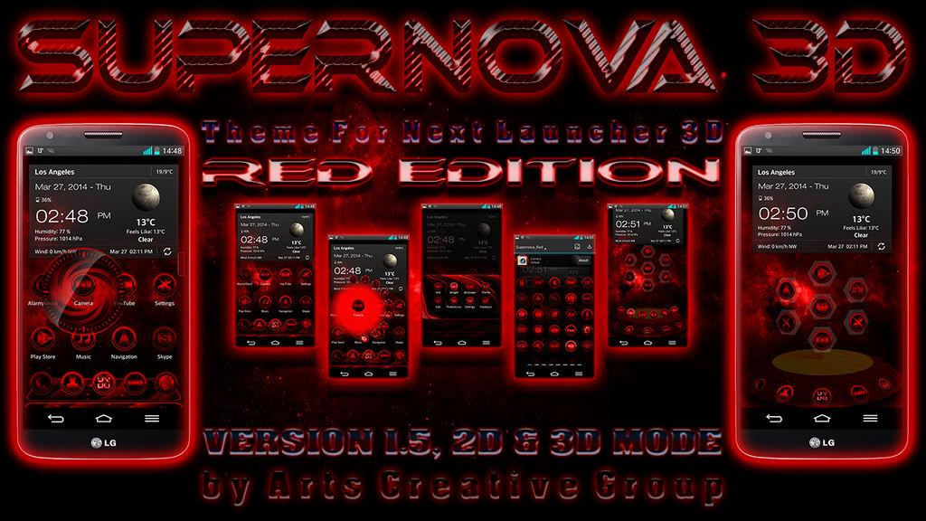 e23d4670401ff Next Launcher 3D Theme Supernova RED by ArtsCreativeGroup on DeviantArt