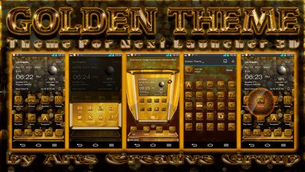 Next Launcher 3D Theme Golden by ArtsCreativeGroup