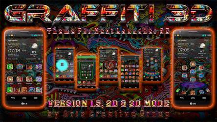 Next Launcher 3D Theme GRAFFITI v. 1.5 2DN3D MODE by ArtsCreativeGroup