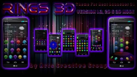 NEXT LAUNCHER 3D THEME: RINGS by ArtsCreativeGroup