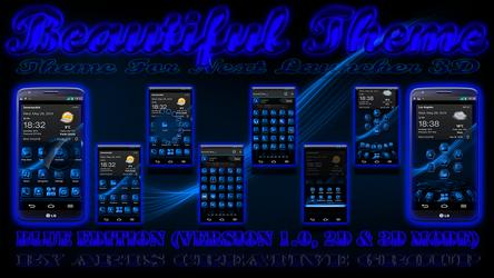 Next Launcher 3D Theme Beautiful Blue by ArtsCreativeGroup