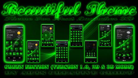 Next Launcher 3D Theme Beautiful Green by ArtsCreativeGroup