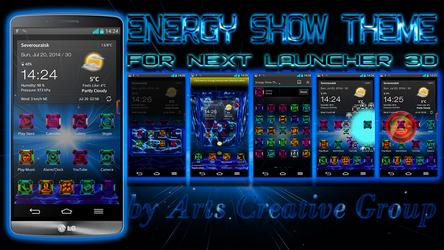 Next Launcher 3d Theme Energy Show by ArtsCreativeGroup