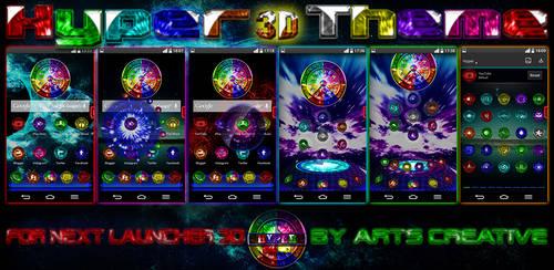 NEXT LAUNCHER 3D THEME Hyper (2Dn3D MODE) by ArtsCreativeGroup