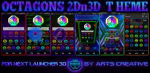 NEXT LAUNCHER 3D THEME Octagons 2Dn3D MODE