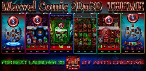 NEXT LAUNCHER 3D THEME Marvel Comic 2Dn3D by ArtsCreativeGroup