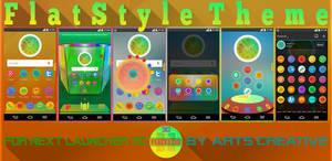 UPDATE! NEXT LAUNCHER 3D THEME FLATSTYLE 2Dn3D
