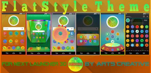 UPDATE! NEXT LAUNCHER 3D THEME FLATSTYLE 2Dn3D by ArtsCreativeGroup