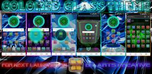 NEXT LAUNCHER 3D THEME Colored Glass 2Dn3D