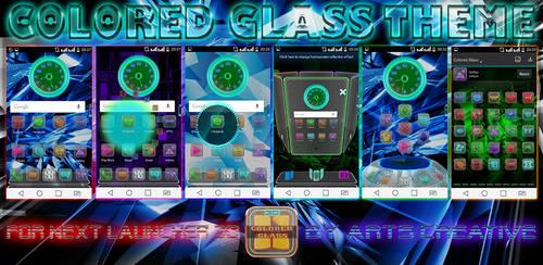 NEXT LAUNCHER 3D THEME Colored Glass 2Dn3D by ArtsCreativeGroup