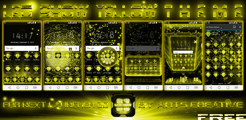 FREE Next Launcher 3D Led Show Yellow by ArtsCreativeGroup