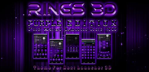 Theme For Next Launcher 3D Rings Purple by ArtsCreativeGroup