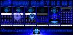 Next Launcher Theme Led Show Blue by ArtsCreativeGroup