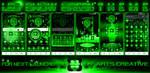 Next Launcher Theme Led Show Green by ArtsCreativeGroup