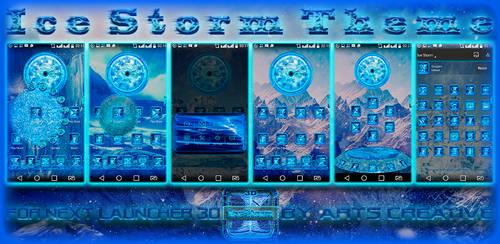 Next Launcher 3D Theme Ice Storm by ArtsCreativeGroup