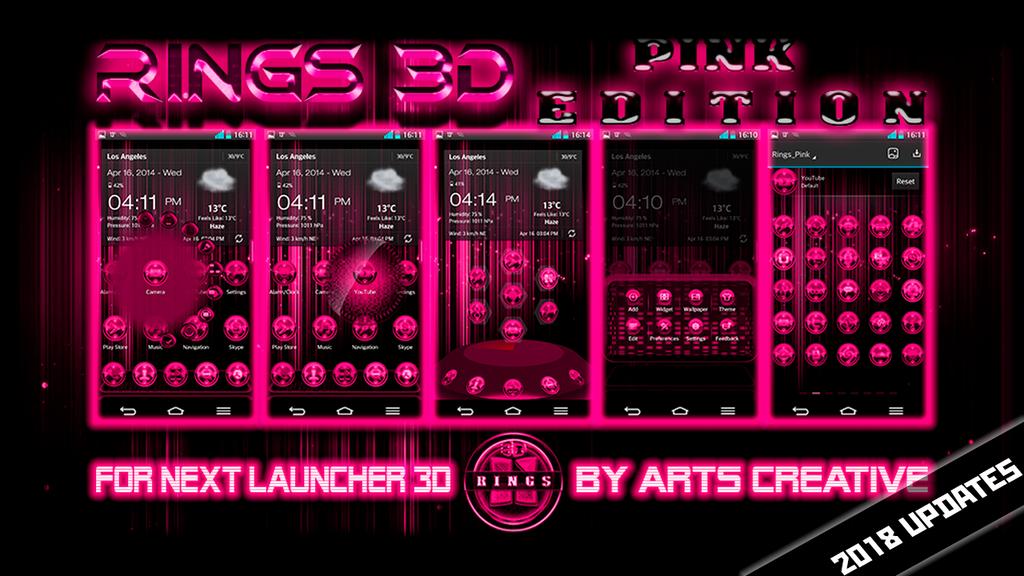 Next Launcher Theme Rings Pink By Artscreativegroup On Deviantart