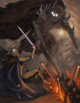 Fingolfin vs Morgoth by mattleese87