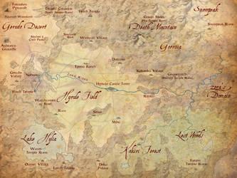 Hyrule Map - The Dark Deluge by mattleese87