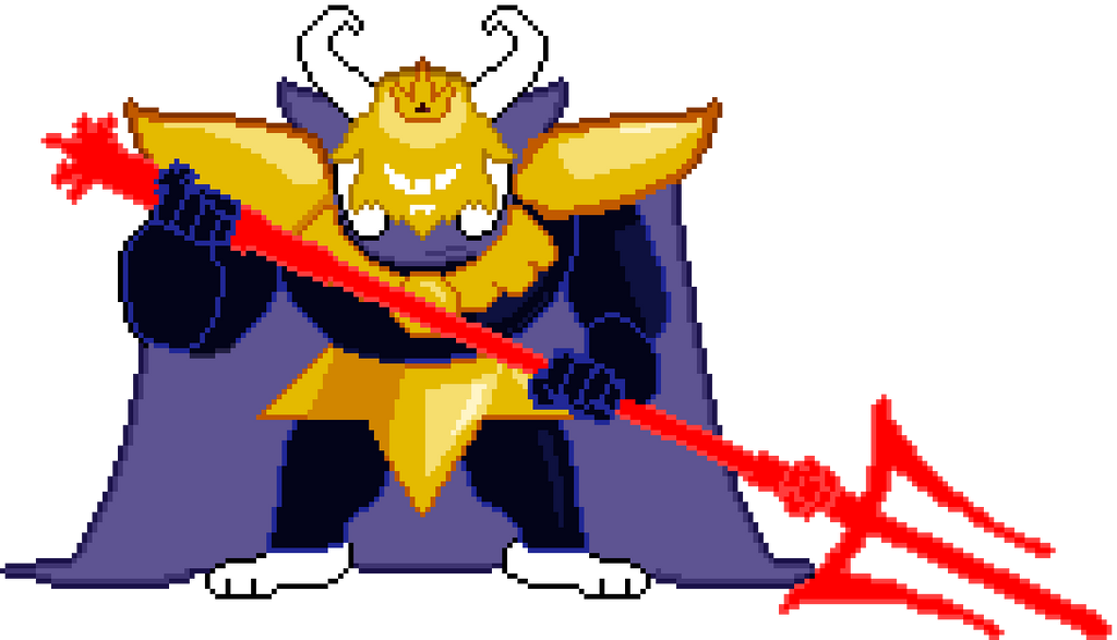 Asgore Colored Sprite By Davidark Thegunter On Deviantart