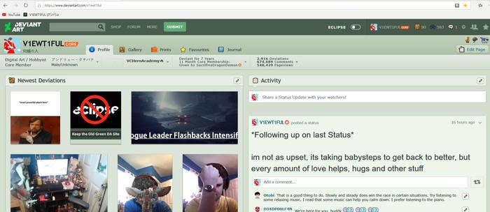 my last DA screenshot