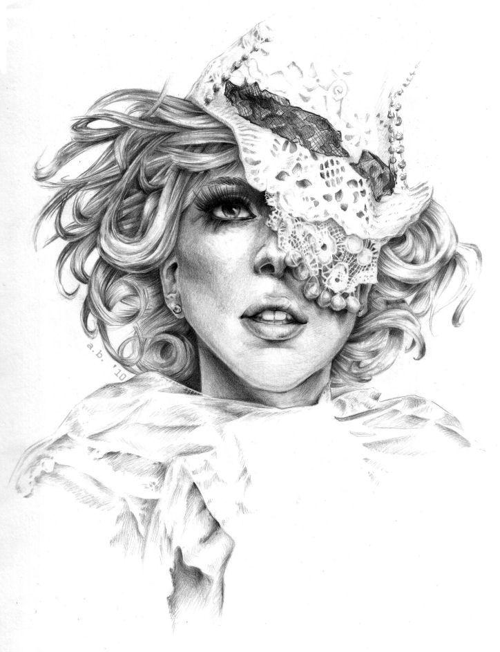 Модные иллюстрации - Леди Гага