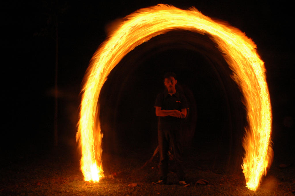fire lightpaint session @ POLBAN #4 by personalstash