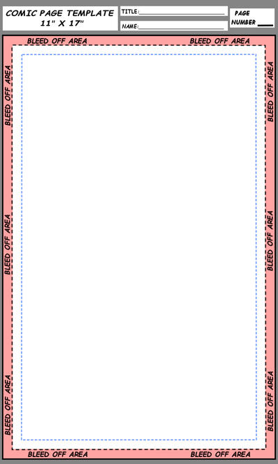 Easy-to-Use Comic Book Page Template: 11 x 17 inch by foxes76133 on ...