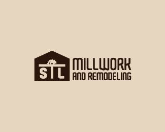 millwork and remodeling logo by whitefoxdesigns
