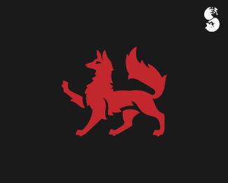 Heraldic-Fox-Logo by IrianWhitefox