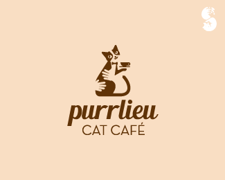 Purrlieu-Cat-Cafe-Logo by IrianWhitefox