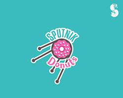 Sputnik-Donuts-Logo by whitefoxdesigns