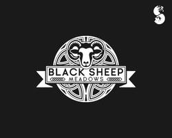 Black-Sheep-Meadows-Logo by whitefoxdesigns