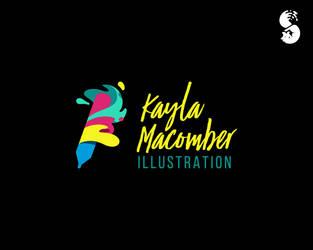Kayla-Macomber-Illustration-Logo by whitefoxdesigns