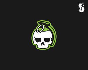 Grenade-Skull-Logo