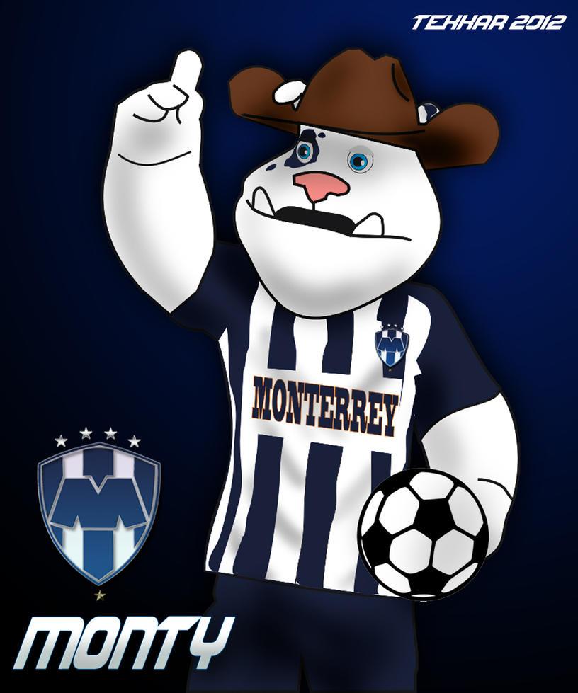 rayados de monterrey mascota by regioart2012