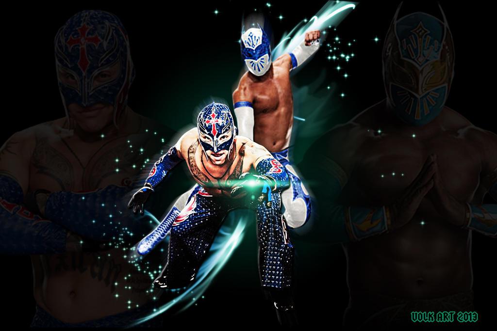 Rey Mysterio y sin cara by regioart2012 on DeviantArt