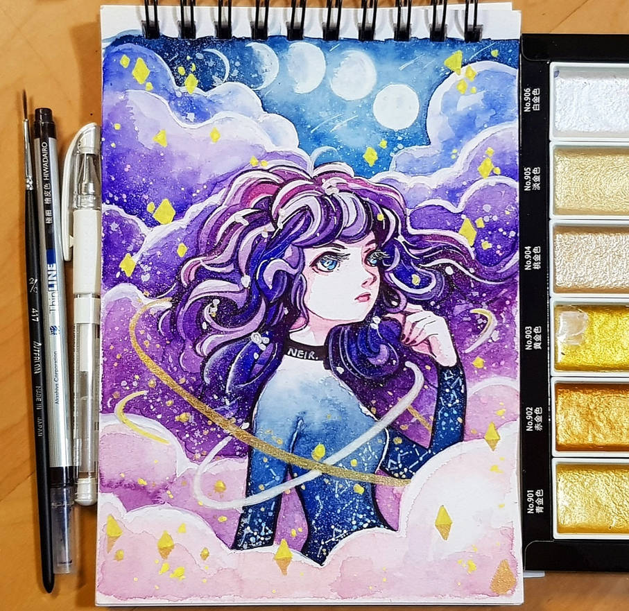 Watercolour 14.1.18 - Galaxy