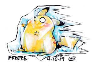 Inktober Day 4: Freeze