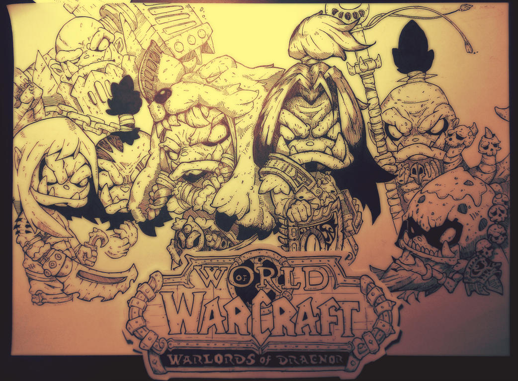 World Of Warcraft: Warlords of Draenor . Paper Ver by J4ck-eR