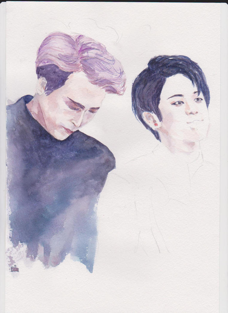 Unfinished DongWoon and YoSeob by PilukakaFox