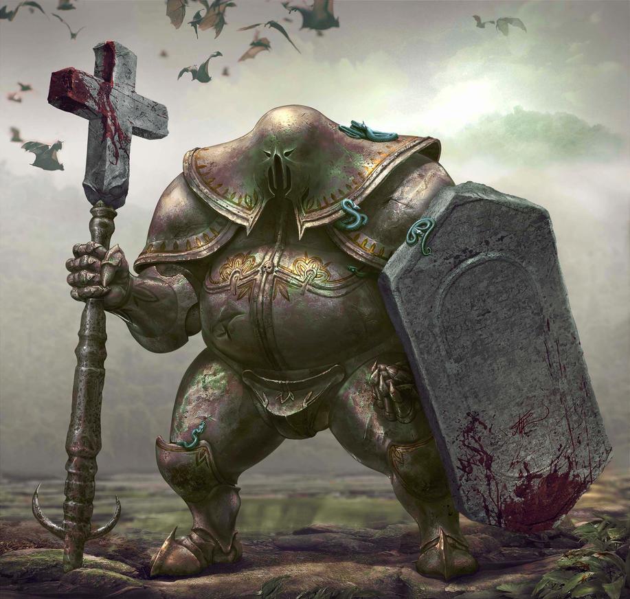 Knight-undertaker of the castle of Deep marshes by Arekkusanda
