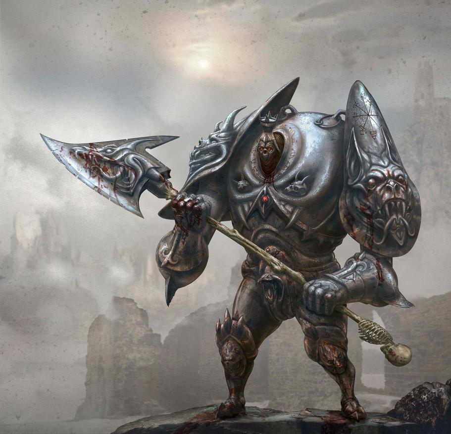 knight vampire guardian Bloodstone castle by Arekkusanda