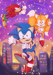 Sonic Tails and Knuckles Fanart