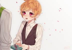 Valentines: Confession [speedpaint] by tokkiria