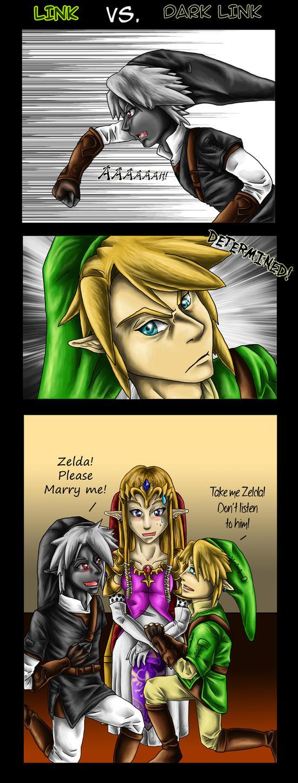 Link Vs. Dark Link by Saidorak