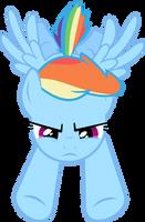 Rainbow Dash Flying by Racefox