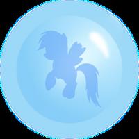 Rainbow Dash Ball Blue by Racefox