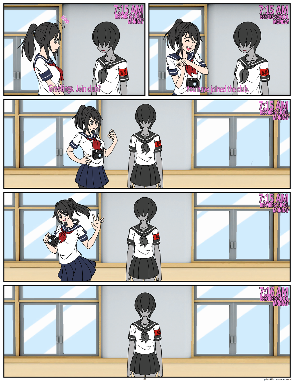 Deviantart coloring clubs -  Fancomic Yansim The Club Update Page 1 By Prismkidd