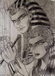 Sethy I and Tuya ( egyptian royal pair)